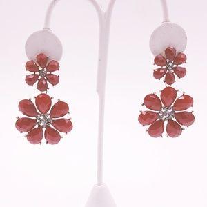 Core Jewelry - 🌹4x25🌹 Gold & Red Crystal Flower Drop Earrings